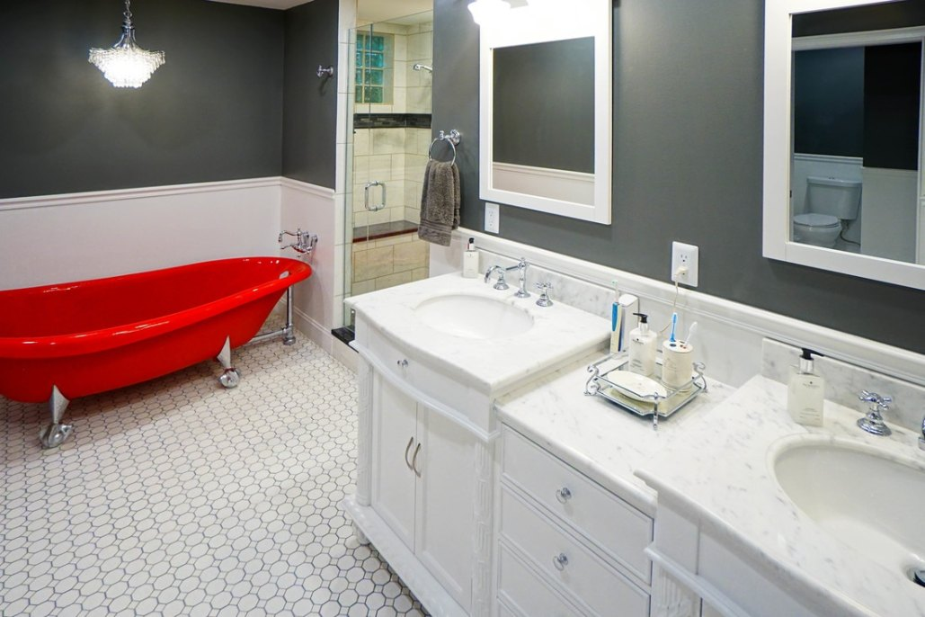 Gorgeous Red Tub Bathroom Remodel Columbus Ohio Home Improvement Gorgeous Bathroom Remodeling Columbus