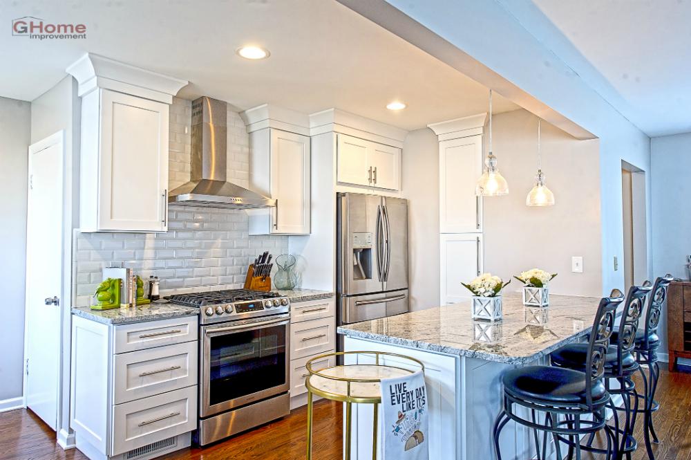 Shaker White Kitchen Cabinets - Kitchen Remodel - Home ...
