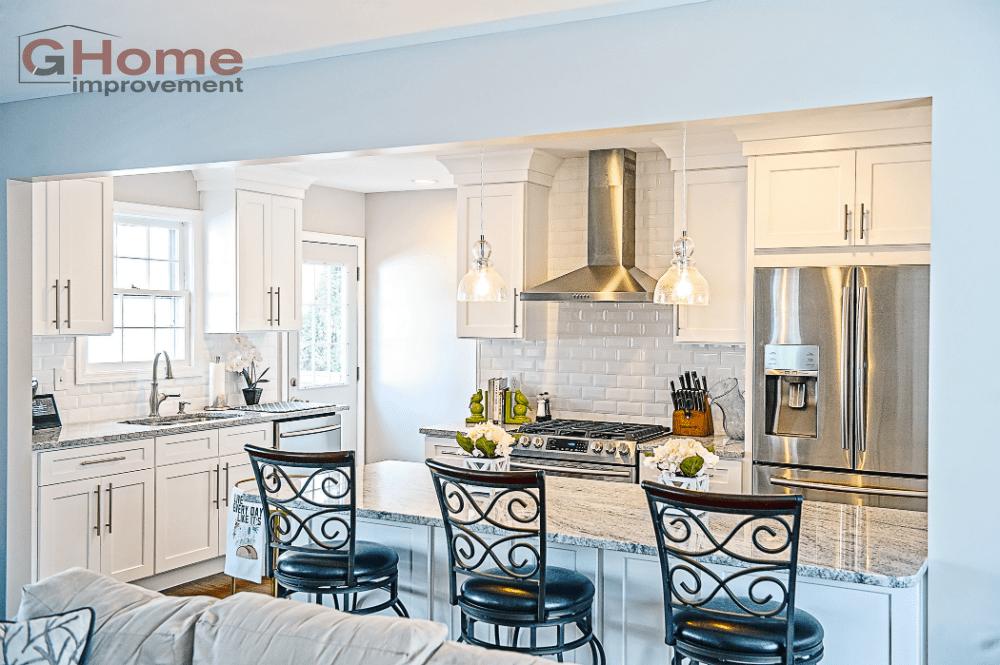 Shaker White Kitchen Cabinets - Kitchen Remodel - Home Improvement