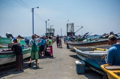 Fischmarkt auf der Mole