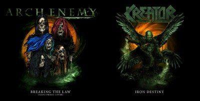 "Arch Enemy/Kreator 7"" split cover"