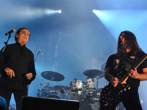 Ze Ramalho with Andreas Kisser of Sepultura at Rock In Rio