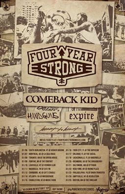 four year strong comeback kid expire january 2015 tour