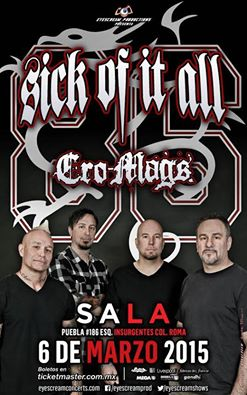 sick of it all cromags mexico
