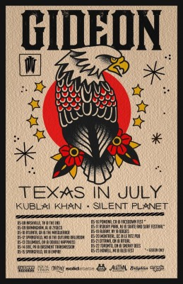 gideon texas in july kublai khan silent planet tour