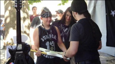 Rob Caggiano of Volbeat meets fans at The Crazy Dave's Music Experience