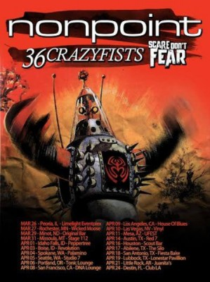 nonpoint 36 crazyfists scare dont fear north american tour