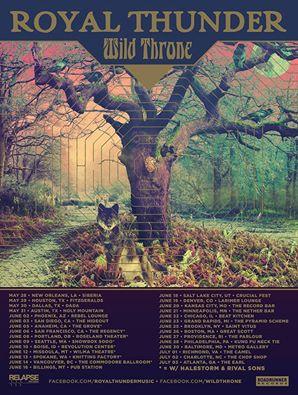 royal thunder wild throne tour