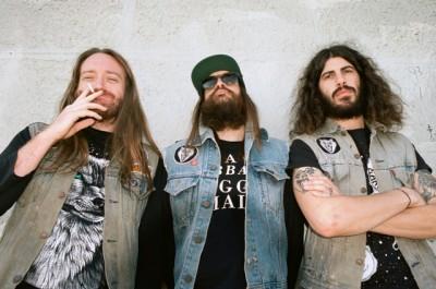 The Shrine (L to R: Courtland Murphy (bass), Jeff Murray (drums) and Josh Landau (guitar / vocals)
