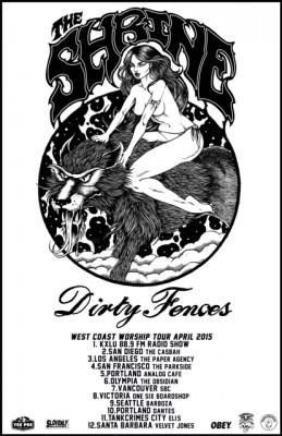 the shrine dirty fences west coast tour 2015