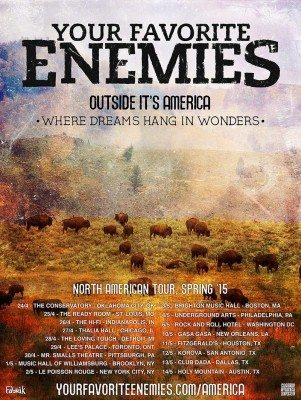 your favorite enemies north american tour