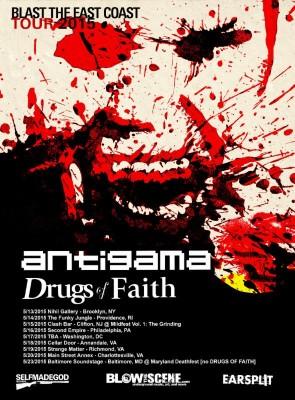 antigama drugs of faith blast the east coast 2015