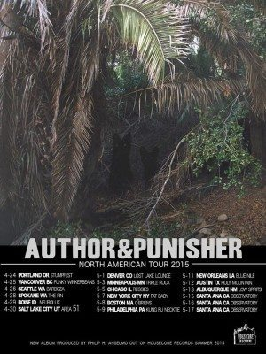 author and punisher north american tour 2015