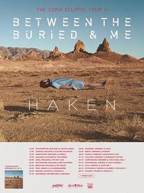 between the buried and me haken uk euro tour