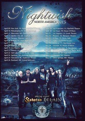nightwish us tour poster