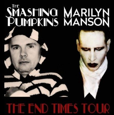pumpkins manson end times tour poster