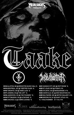 taake north american tour