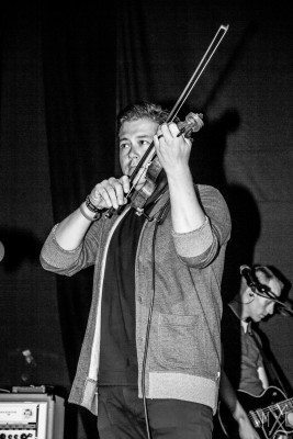 Sean Mackin of Yellowcard, performing with Acceptance. Photo by Meg Loyal.