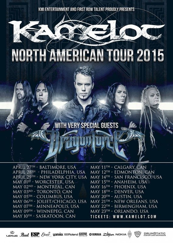 US-2015Kamelot Dragonforce tour poster leg one