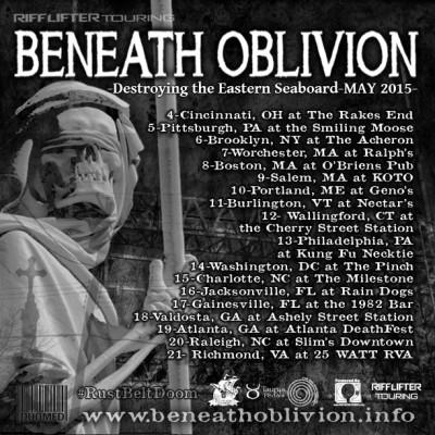 beneath oblivion tour