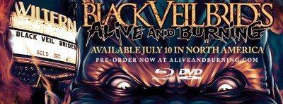 black veil brides alive and burning dvd preorder