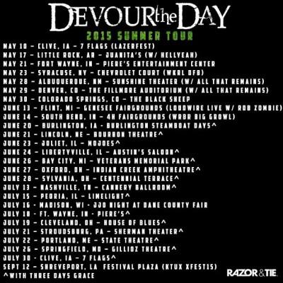 devour the day summer 2015 tour