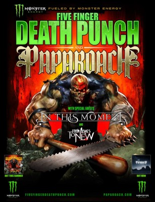 five finger papa roach in this tour