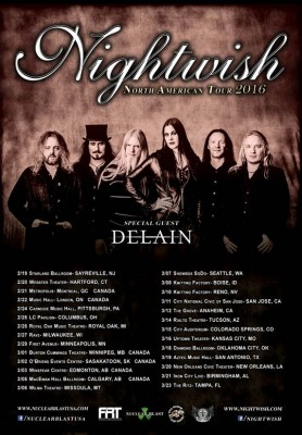nightwish delain tour