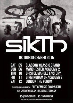 sikth uk tour december 2015