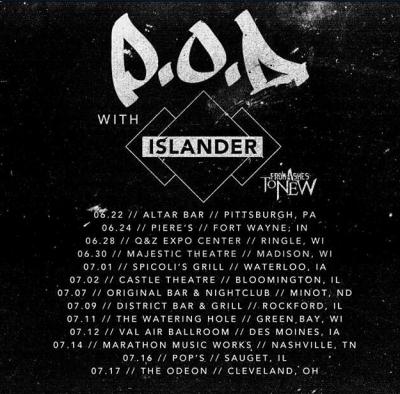 POD Islander summer 2015 tour poster