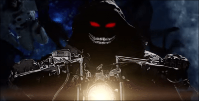 Video still from Disturbed 'The Vengeful One' video, Directed by Phil Mucci