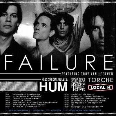 Failure tour poster with Troy Van Leeuwen