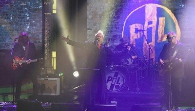 "PUBLIC IMAGE LTD perform on ""The Late Show With Stephen Colbert."" Photo Credit: Jeffrey R. Staab/CBS."