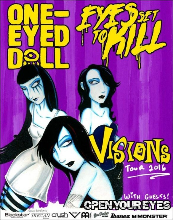 One Eyed Doll and Eyes Set To Kill co headline tour