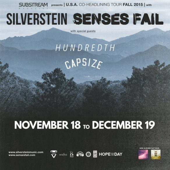 Senses Fail Silverstein Hundreth Capsize tour dates