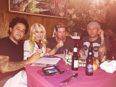 Unwritten Law with El Hefe of NOFX and his wife Jen Abeyta.