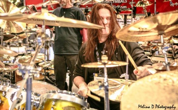 Shawn Drover of Act of Defiance at The NAMM Show, by Melina D Photography