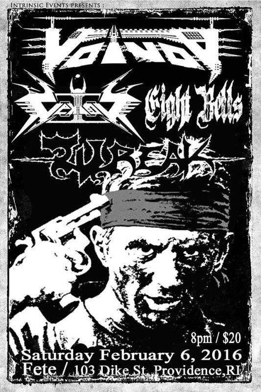 voivod vektor eight bells wreak fete RI poster