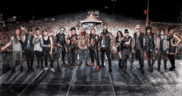 Five finger Death Punch Shinedown Sixx AM fall 2016 US tour band photo ghostcultmag