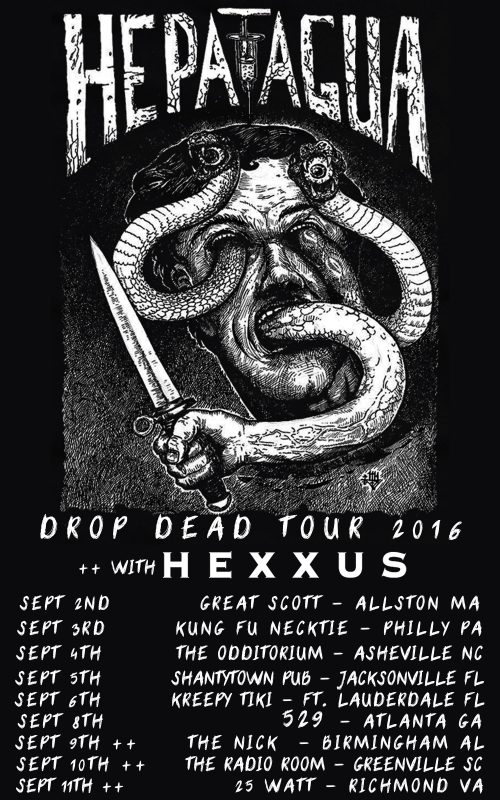Heptagua 2016 tour flyer ghostcultmag