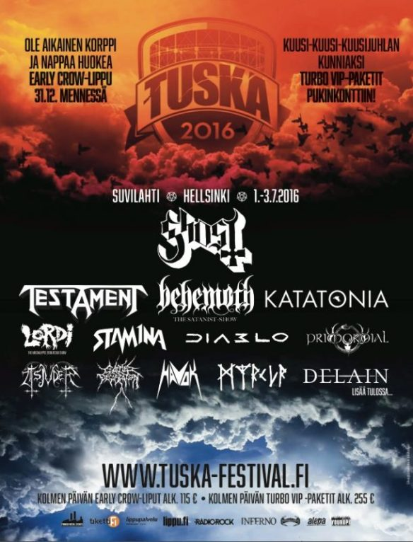 Tuska Festival 2016 poster ghostcultmag