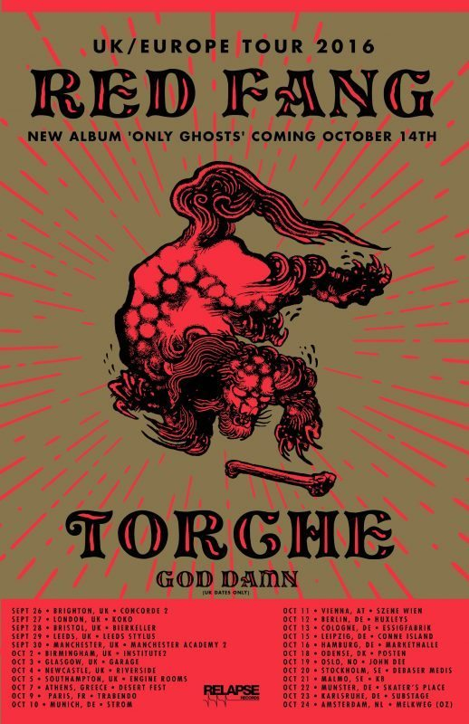 Red Fang Torche Fall EU tour 2016 ghostcultmag