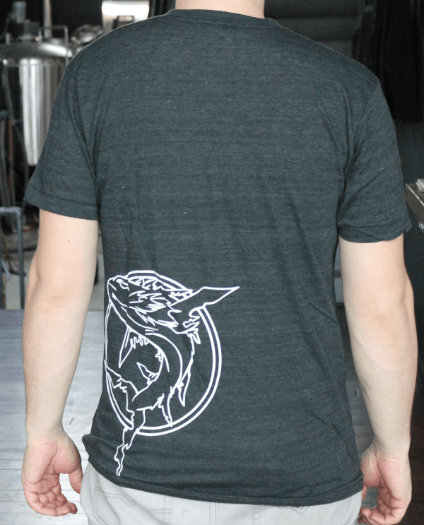 Ghostfish Brewing Unisex Grey Tee with Text Back
