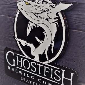Ghostfish Brewing Logo Tin Tacker