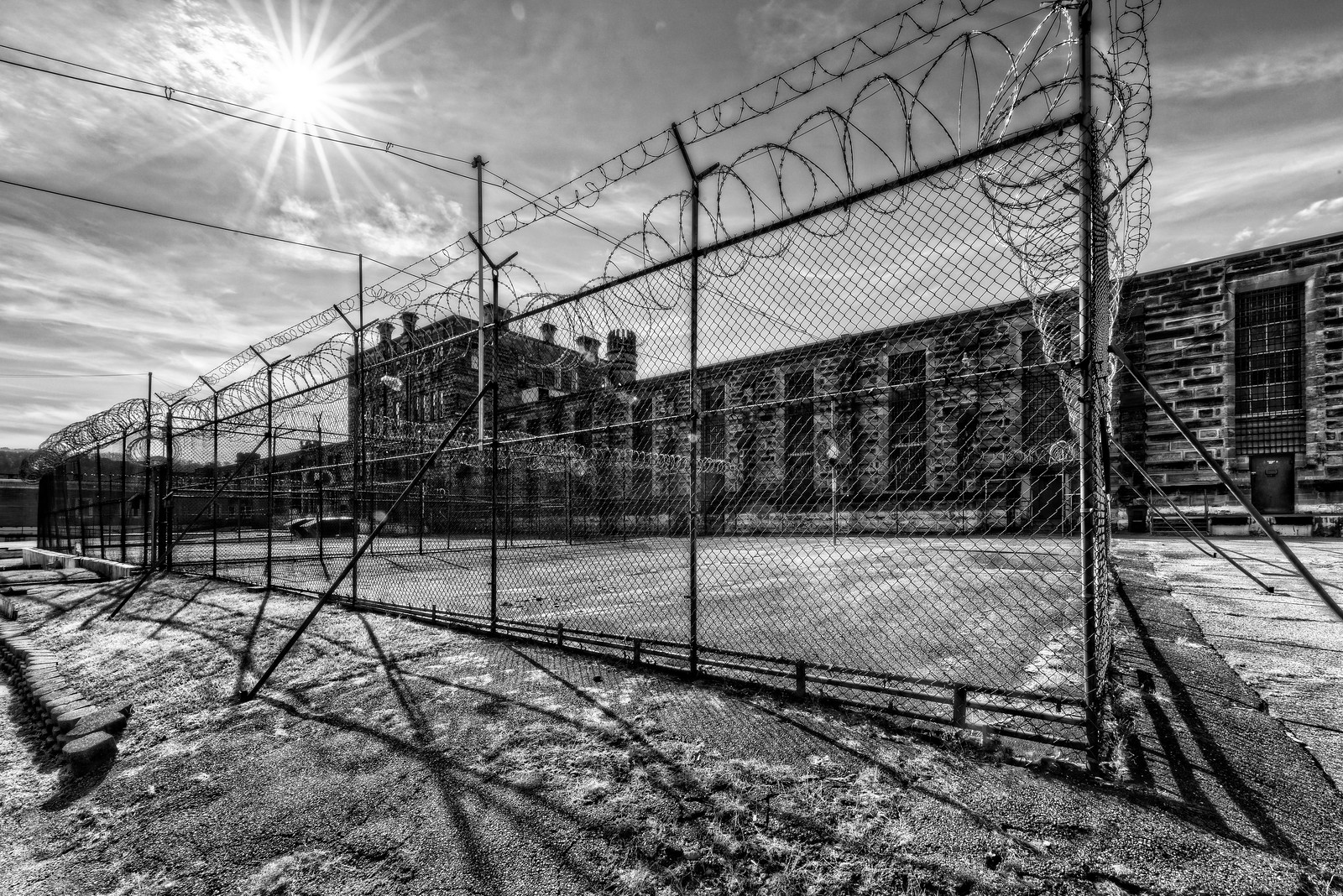 West Virginia Penitentiary Exercise Yard
