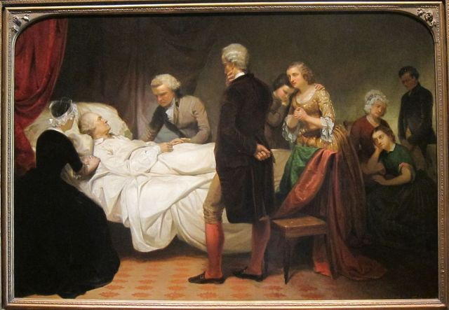 George Washington on Deathbed