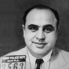 Al Capone Smiling in Mugshot in Florida