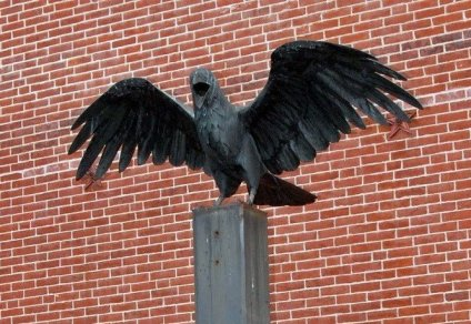 Raven Statue at Pennsylvania Poe Historical Site