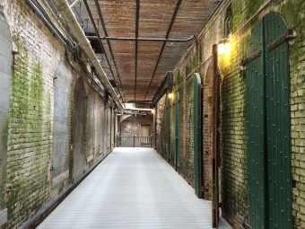 Alcatraz, Island, California, Prison, alcatraz, island, corridor, indoors, cellar, architecture, day
