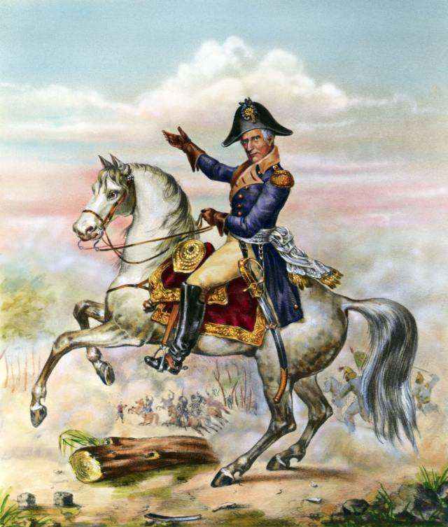William Henry Harrison on Horseback